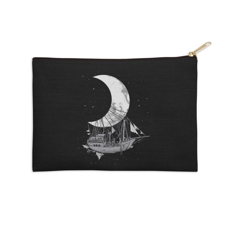 Moon Ship Accessories Zip Pouch by digital carbine