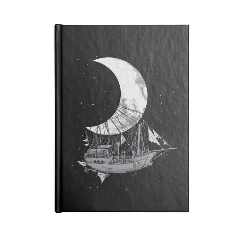 Moon Ship Accessories Lined Journal Notebook by digital carbine