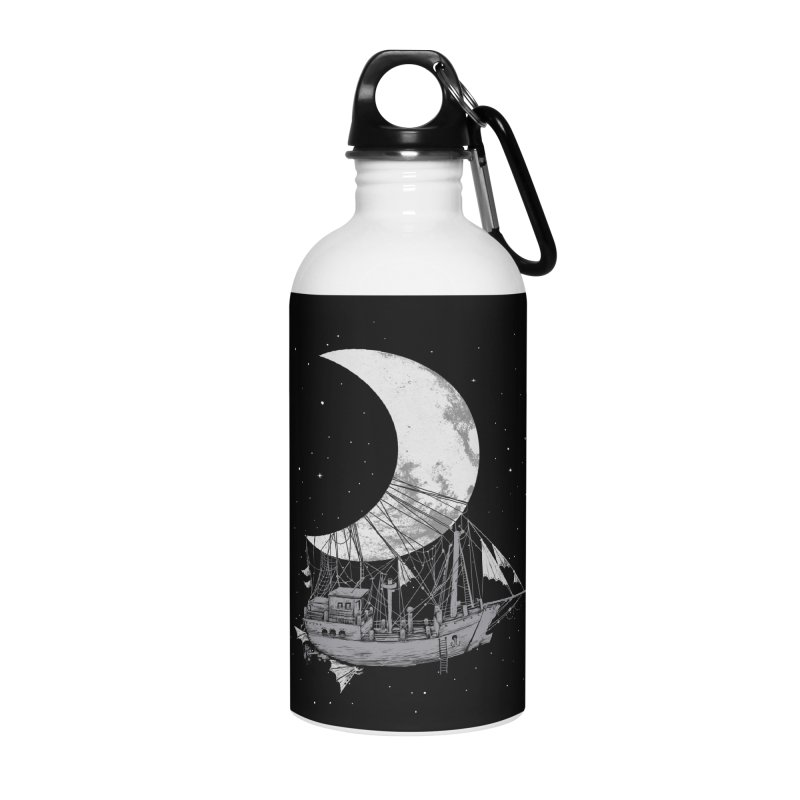 Moon Ship Accessories Water Bottle by digital carbine
