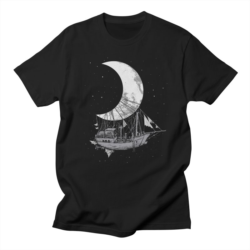 Moon Ship Men's T-shirt by digitalcarbine