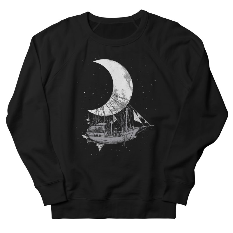 Moon Ship Men's Sweatshirt by digitalcarbine
