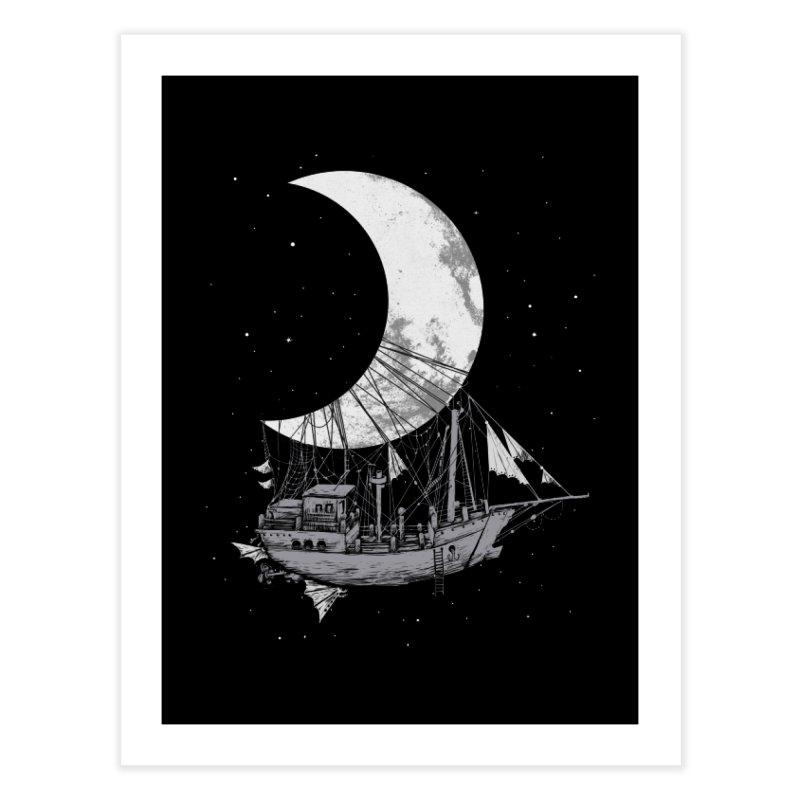 Moon Ship Home Fine Art Print by digital carbine