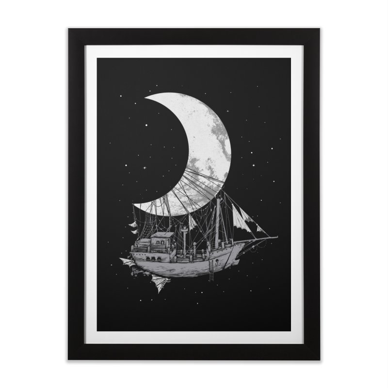Moon Ship Home Framed Fine Art Print by digitalcarbine