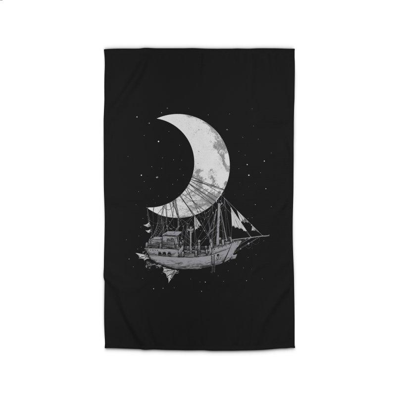 Moon Ship Home Rug by digital carbine