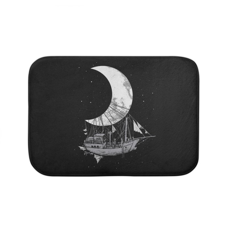Moon Ship Home Bath Mat by digital carbine