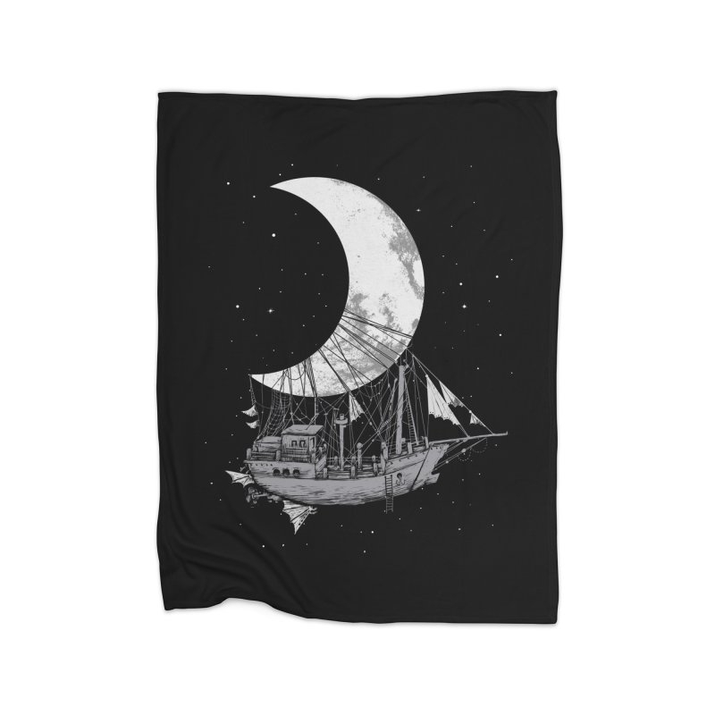 Moon Ship Home Blanket by digital carbine