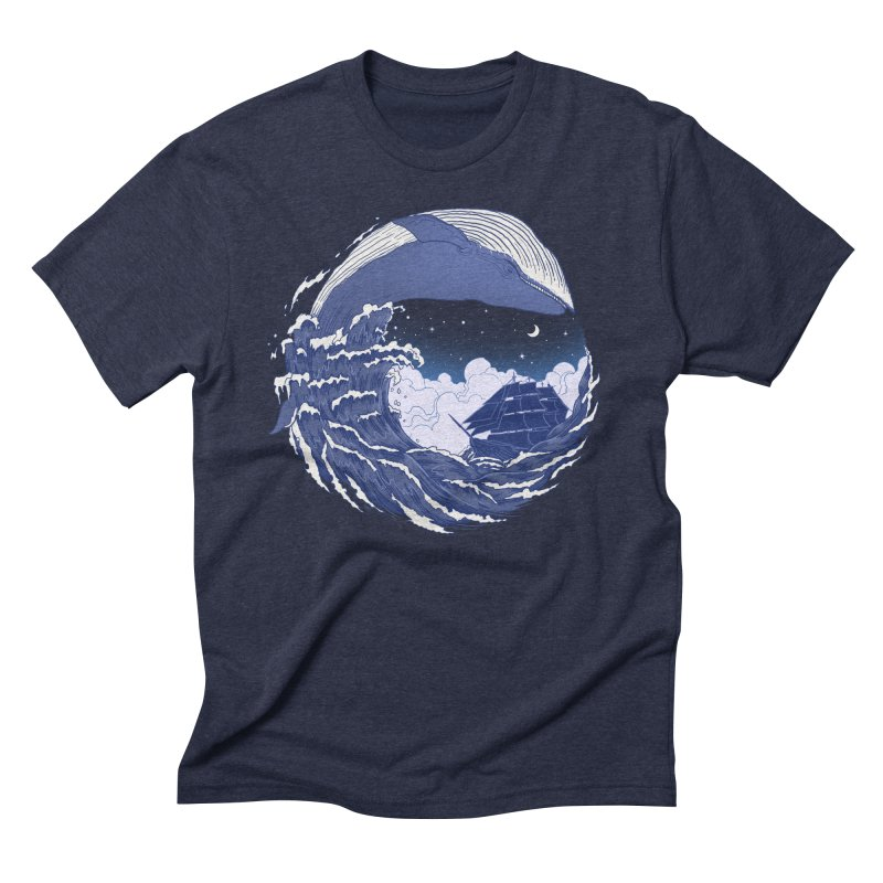 The Great Whale Men's Triblend T-Shirt by digitalcarbine