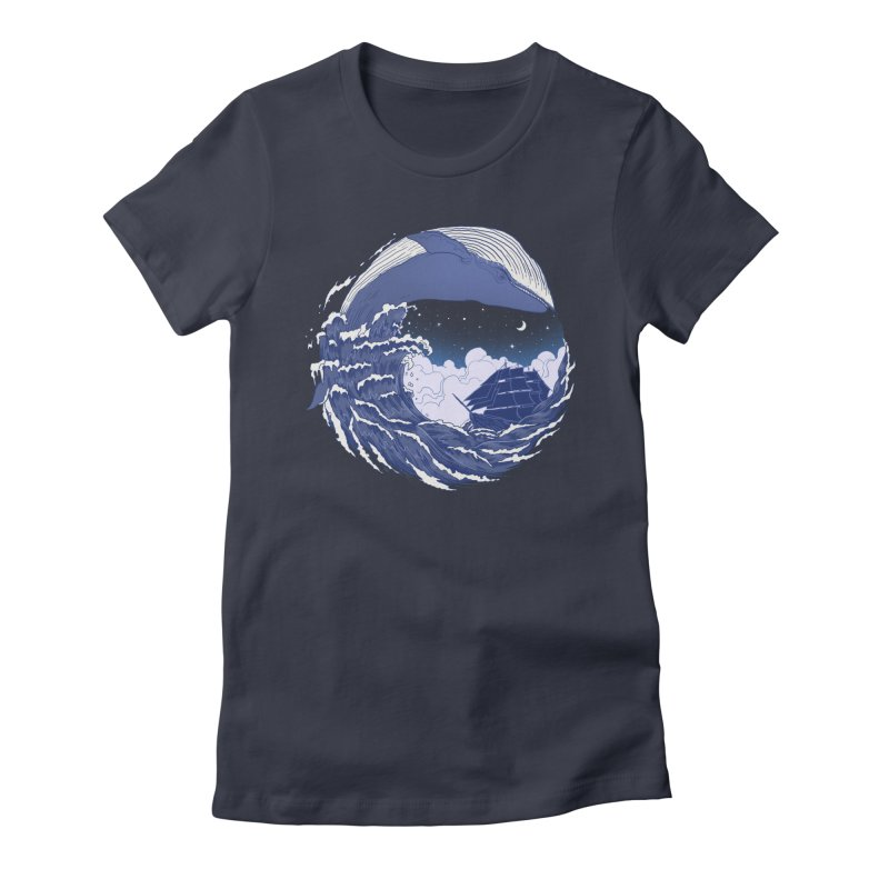 The Great Whale Women's Fitted T-Shirt by digitalcarbine