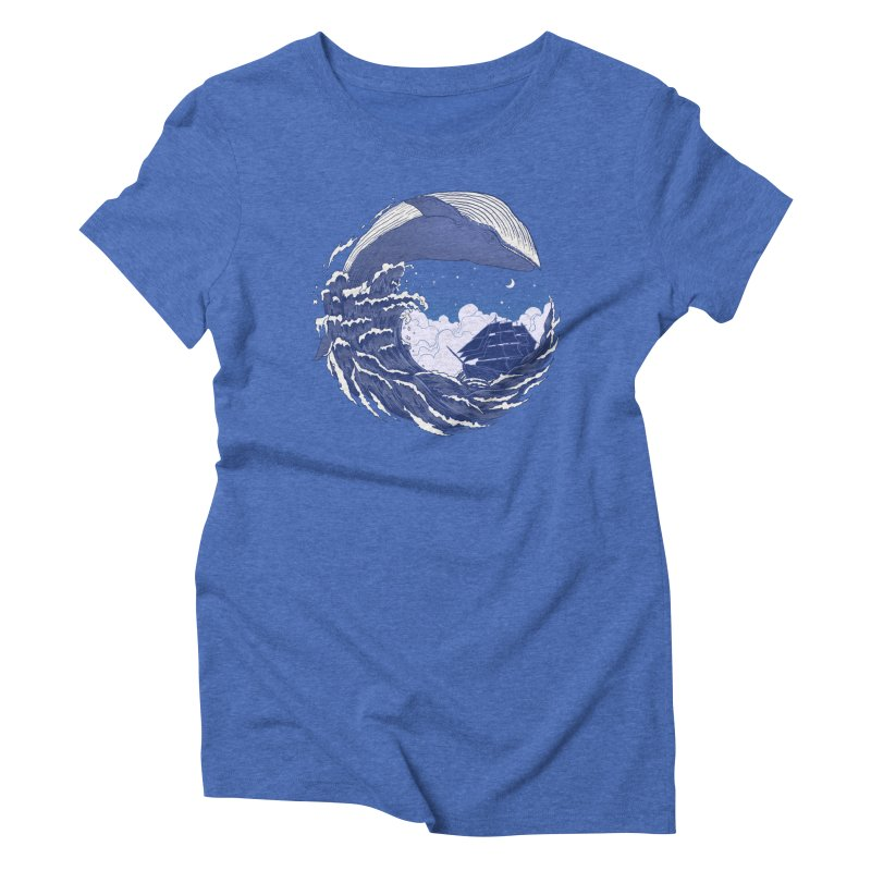 The Great Whale Women's Triblend T-shirt by digitalcarbine