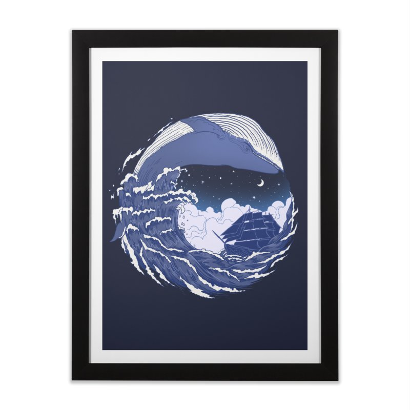 The Great Whale Home Framed Fine Art Print by digitalcarbine