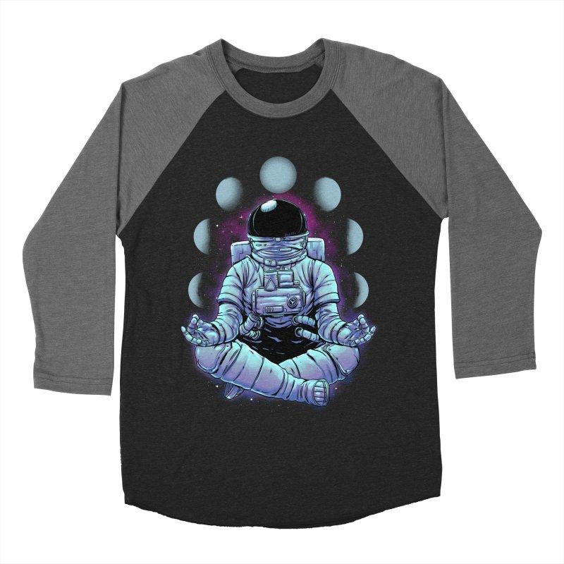 Meditation Men's Baseball Triblend Longsleeve T-Shirt by digital carbine