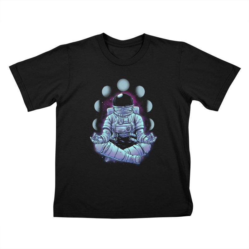 Meditation Kids T-Shirt by digital carbine