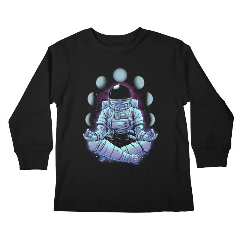 Meditation Kids Longsleeve T-Shirt by digital carbine