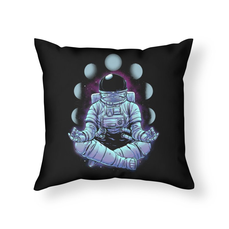 Meditation Home Throw Pillow by digital carbine