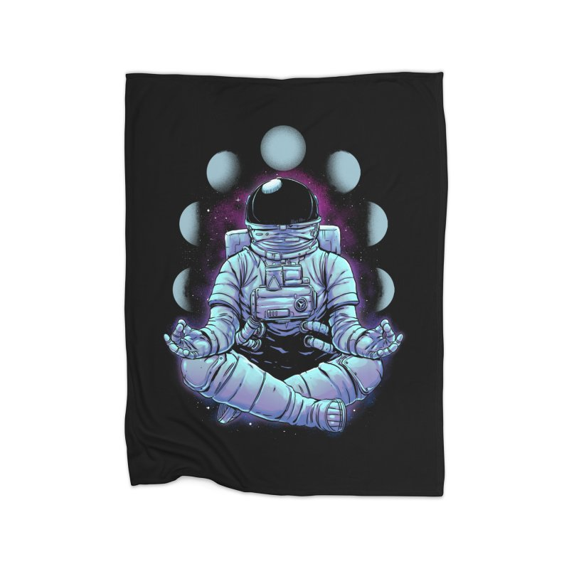Meditation Home Fleece Blanket Blanket by digital carbine