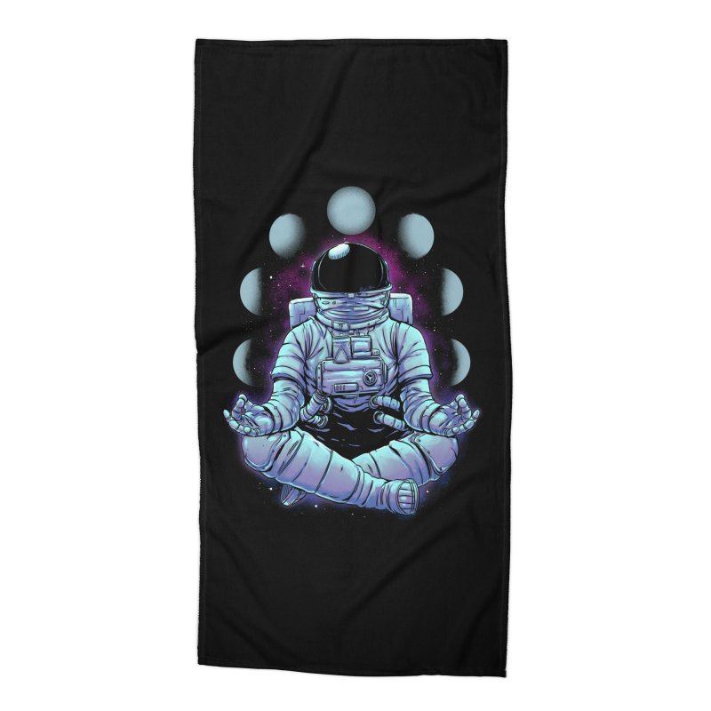 Meditation Accessories Beach Towel by digital carbine