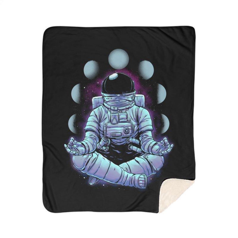 Meditation Home Sherpa Blanket Blanket by digital carbine