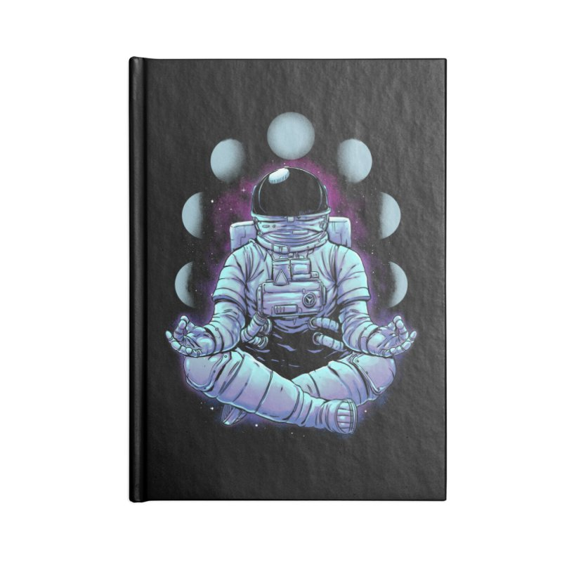 Meditation Accessories Lined Journal Notebook by digital carbine