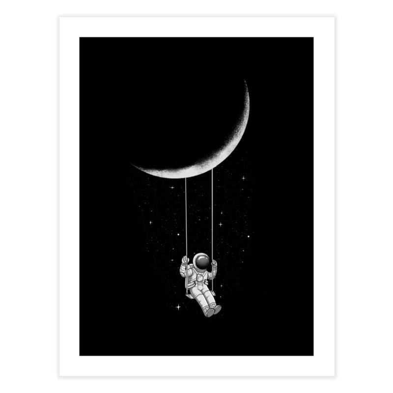 Moon Swing Home Fine Art Print by digital carbine