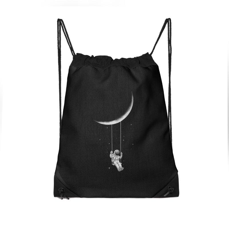 Moon Swing Accessories Drawstring Bag Bag by digital carbine