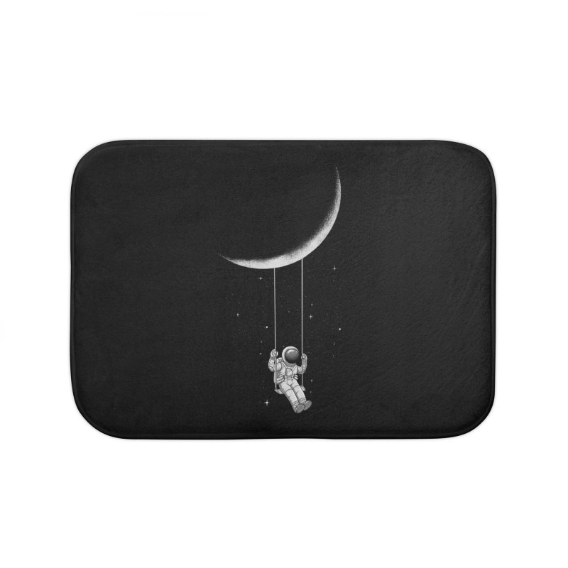 Moon Swing Home Bath Mat by digital carbine