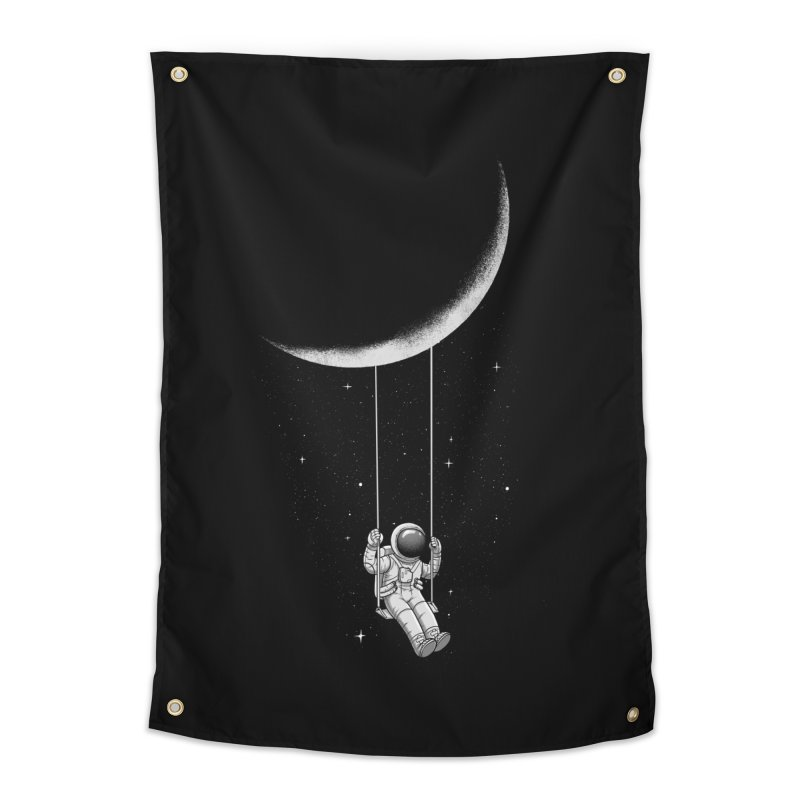 Moon Swing Home Tapestry by digital carbine