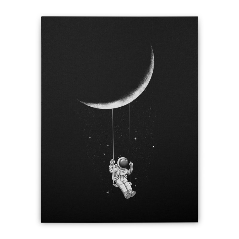 Moon Swing Home Stretched Canvas by digital carbine