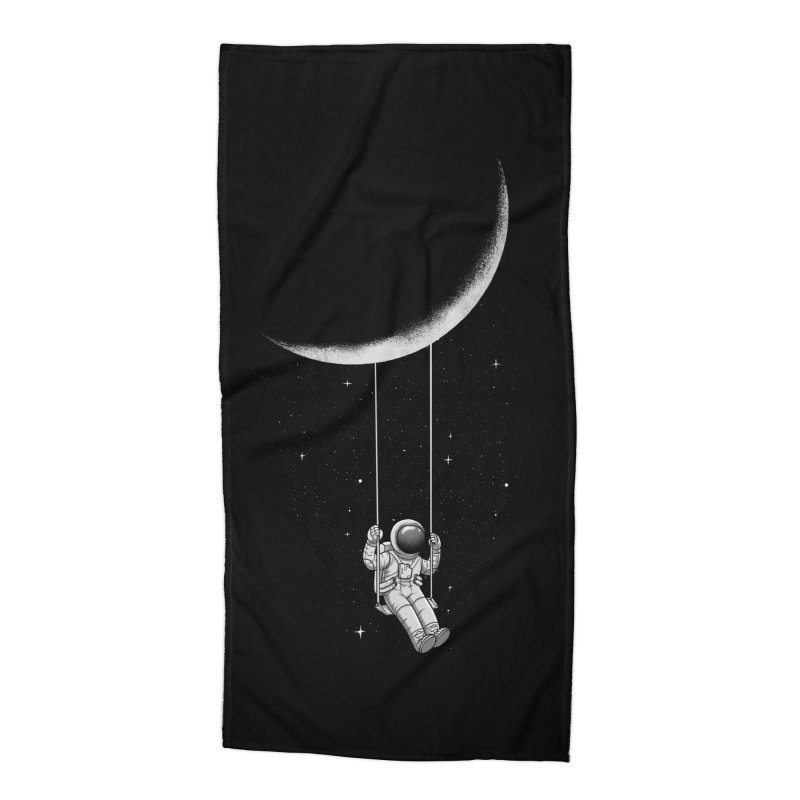Moon Swing Accessories Beach Towel by digital carbine