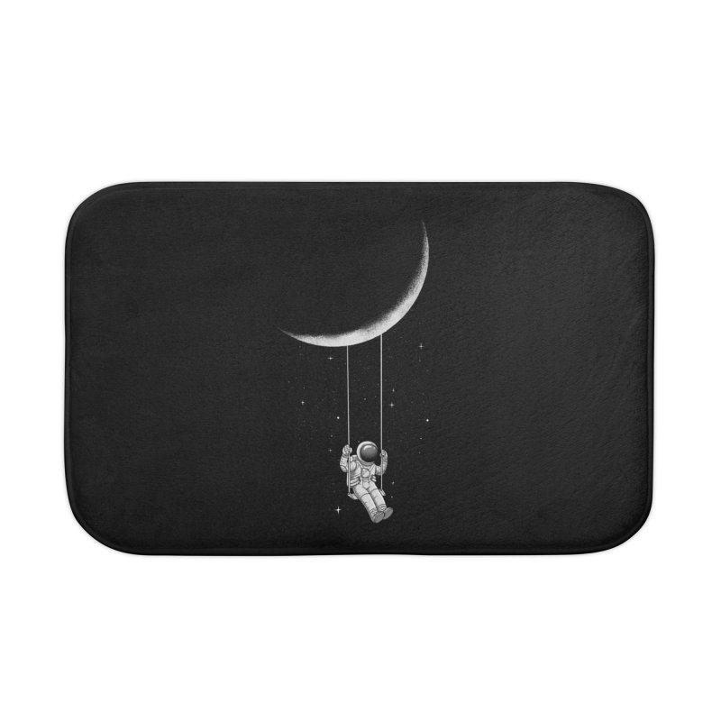 Moon Swing Home Bath Mat by digital carbine