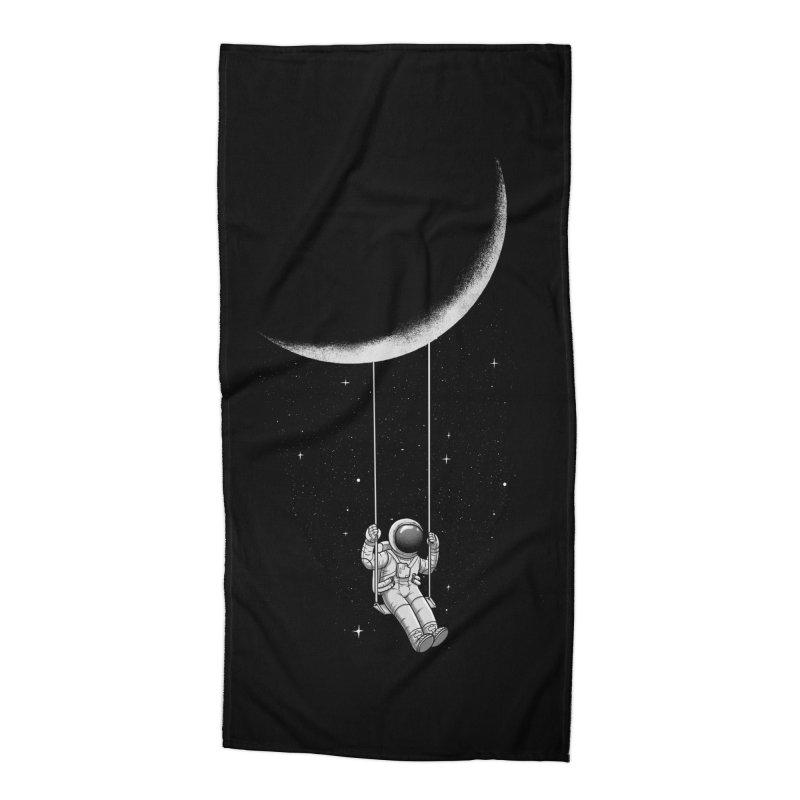 Moon Swing Accessories Beach Towel by digital carbine
