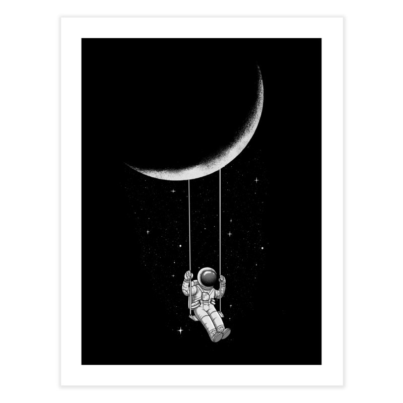 Moon Swing Home Fine Art Print by digital carbine