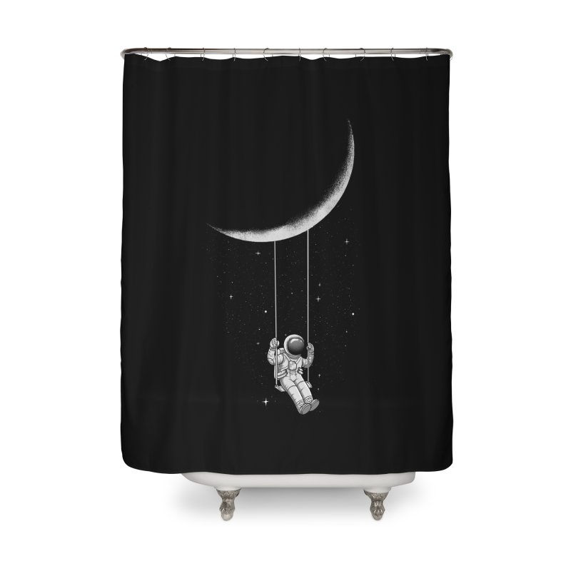 Moon Swing Home Shower Curtain by digital carbine