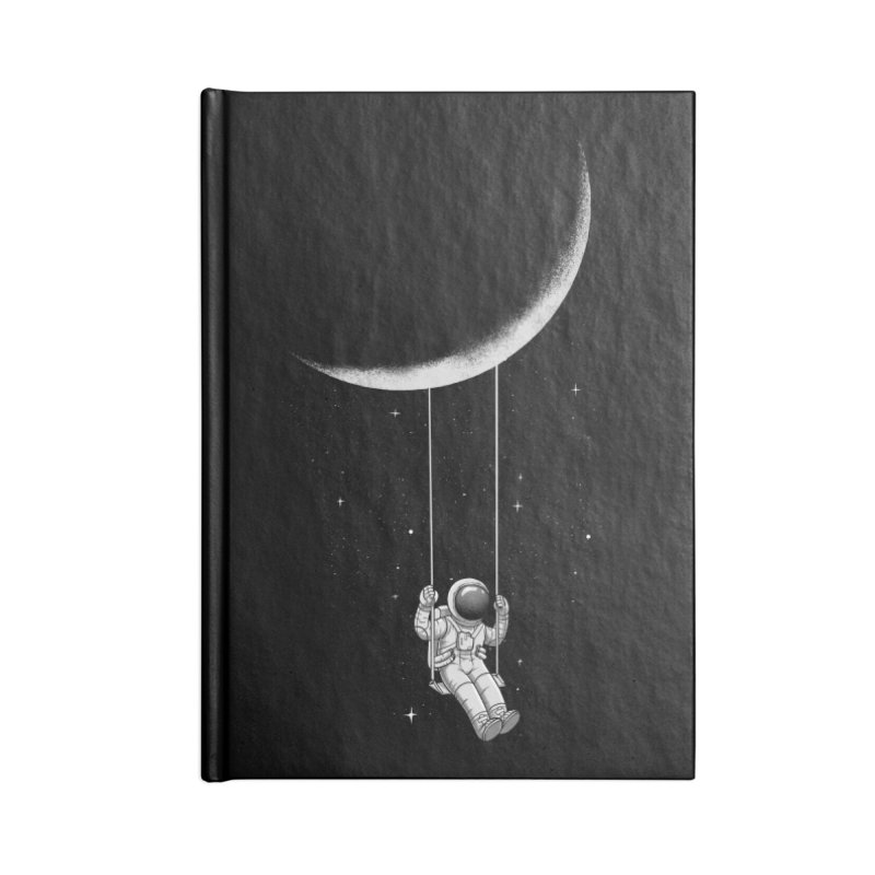 Moon Swing Accessories Lined Journal Notebook by digital carbine