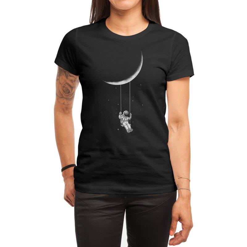 Moon Swing Women's T-Shirt by digital carbine