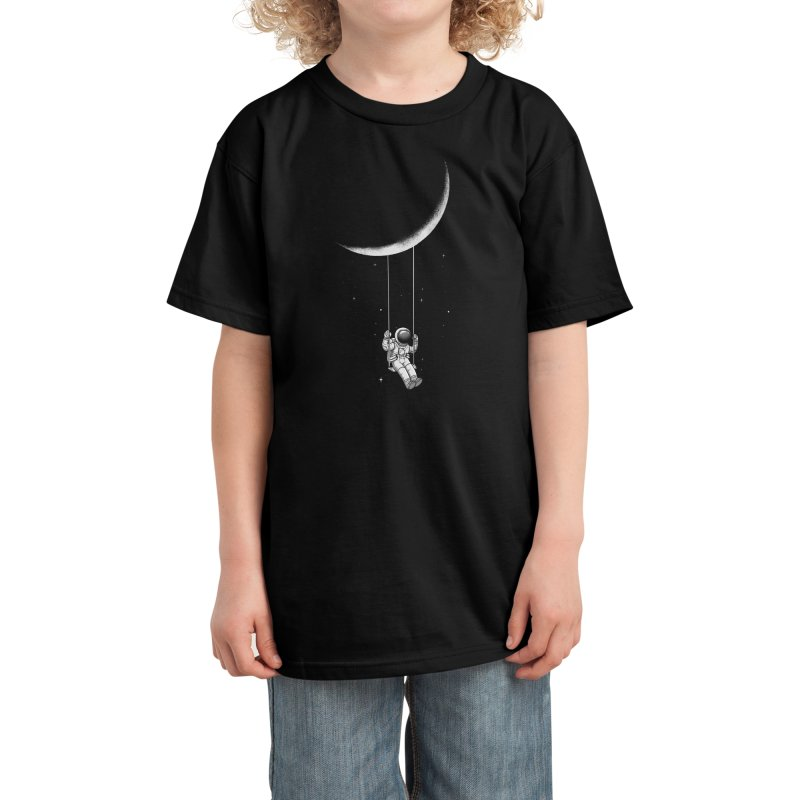 Moon Swing Kids T-Shirt by digital carbine