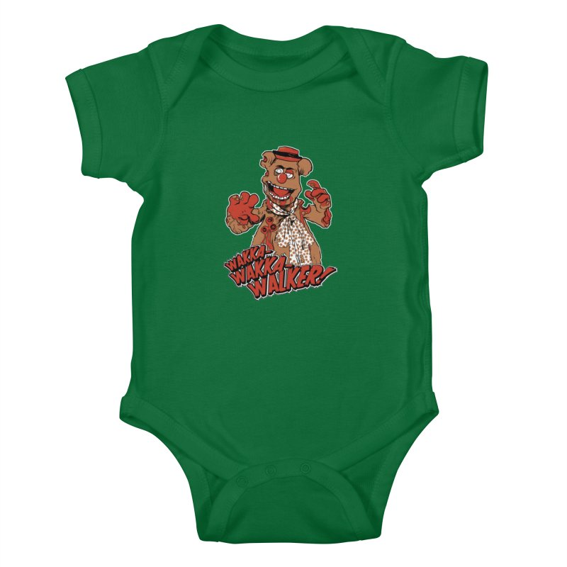 """""""Wakka, Wakka, WALKER!"""" Zombie Fozzie Kids Baby Bodysuit by Digital PIMP Threadless shop"""