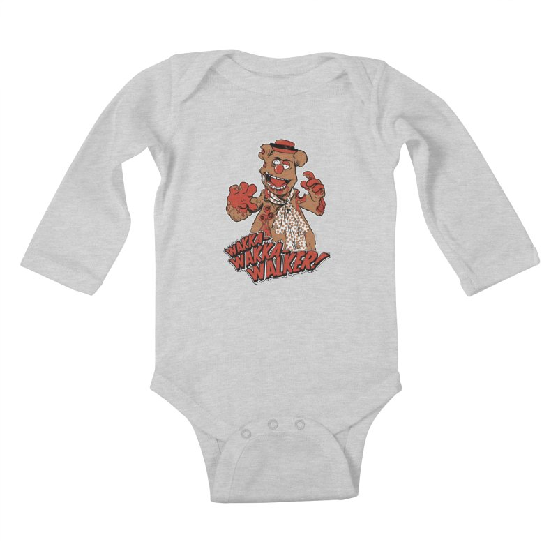 """Wakka, Wakka, WALKER!"" Zombie Fozzie Kids Baby Longsleeve Bodysuit by Digital PIMP Threadless shop"