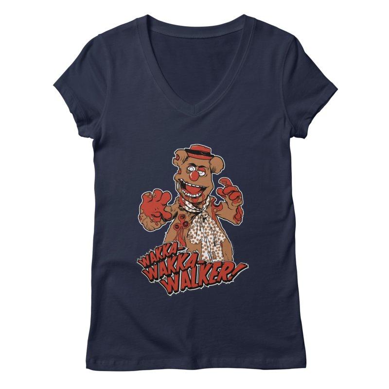 """""""Wakka, Wakka, WALKER!"""" Zombie Fozzie Women's Regular V-Neck by Digital PIMP Threadless shop"""