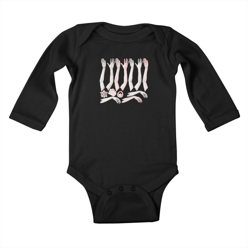 Hands Chart Kids Baby Longsleeve Bodysuit by dimmerlight's Artist Shop