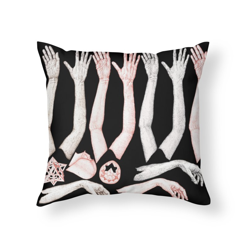 Hands Chart Home Throw Pillow by dimmerlight's Artist Shop