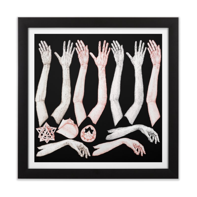 Hands Chart Home Framed Fine Art Print by dimmerlight's Artist Shop