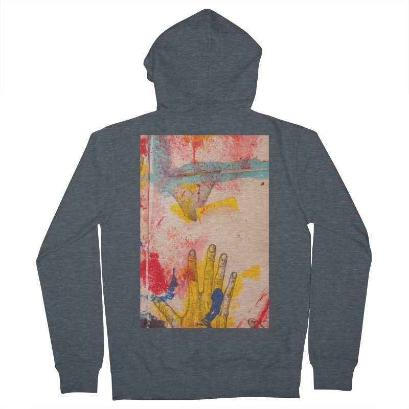 Abstract in Yellow Women's French Terry Zip-Up Hoody by dimmerlight's Artist Shop