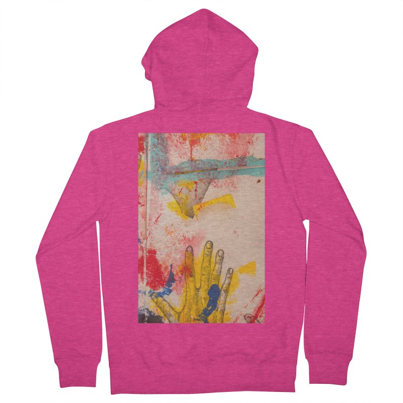 Abstract in Yellow Women's Zip-Up Hoody by dimmerlight's Artist Shop