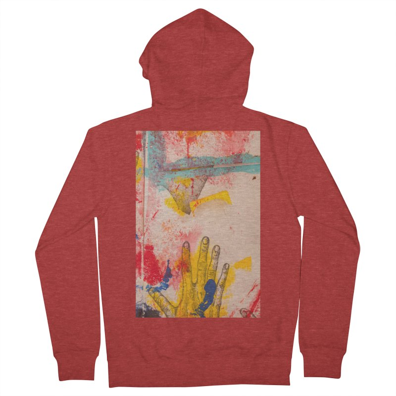 Abstract in Yellow Men's French Terry Zip-Up Hoody by dimmerlight's Artist Shop