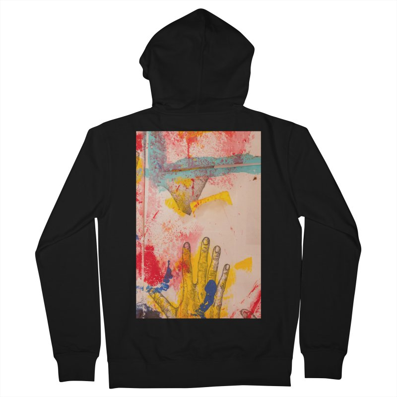 Abstract in Yellow Men's Zip-Up Hoody by dimmerlight's Artist Shop