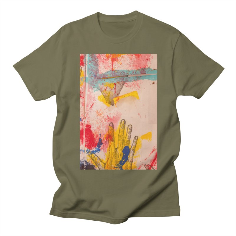 Abstract in Yellow Women's Regular Unisex T-Shirt by dimmerlight's Artist Shop