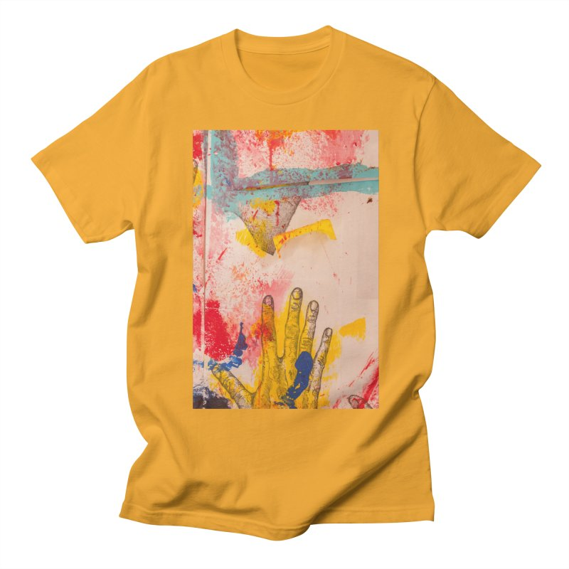 Abstract in Yellow Men's T-Shirt by dimmerlight's Artist Shop