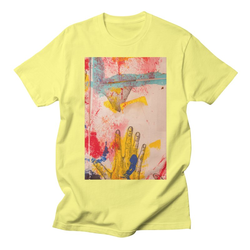 Abstract in Yellow Men's Regular T-Shirt by dimmerlight's Artist Shop