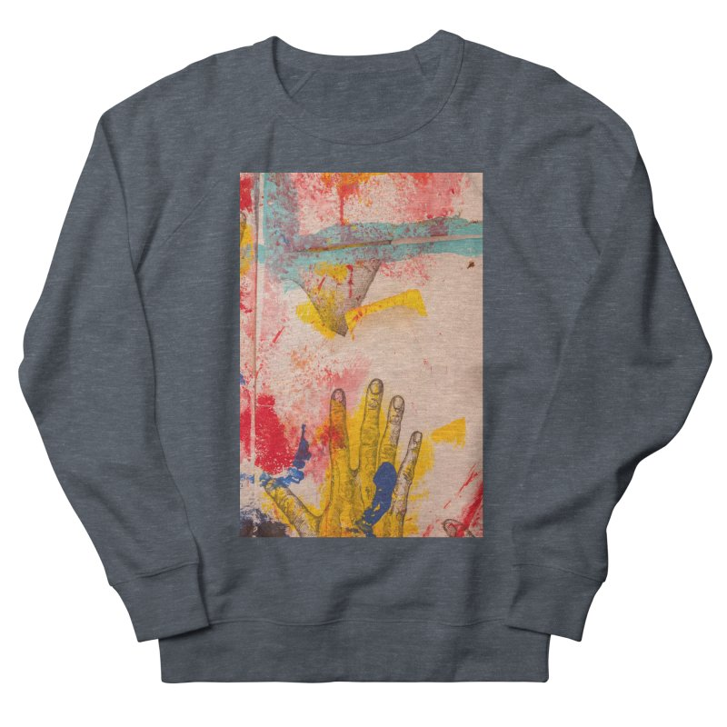 Abstract in Yellow Women's French Terry Sweatshirt by dimmerlight's Artist Shop