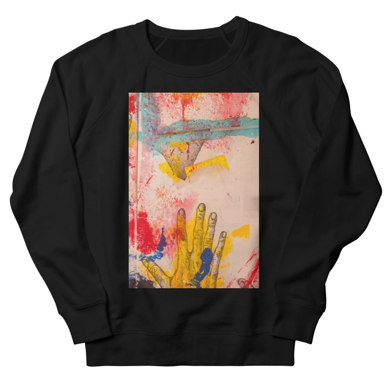 Abstract in Yellow Men's French Terry Sweatshirt by dimmerlight's Artist Shop